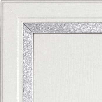 Bianco frassino e profilo metallo