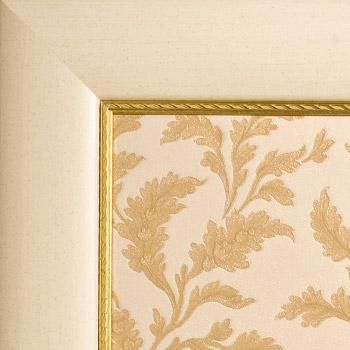 Avorio profilo oro - Carta decorativa Avorio-Oro