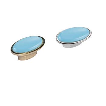 Pomolo ovale: Art.27 Oro Azzurro / Art.26 Argento Azzurro