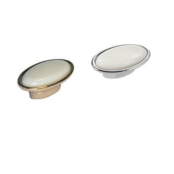 Pomolo ovale: Art.11 Oro Bianco / Art.23 Argento Bianco