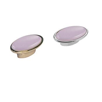 Pomolo ovale: Art.15 Oro Glicine / Art.25 Argento Glicine