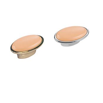 Pomolo ovale: Art.13 Oro Rosa / Art.24 Argento Rosa