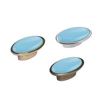 Pomolo ovale: Art.27 Oro Azzurro / Art.30 Anticato Azzurro / Art.26 Argento Azzurro